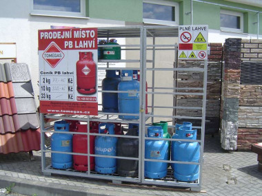 Prodej propan - butanového plynu plynu v tlakových lahvích, 10kg a 2kg